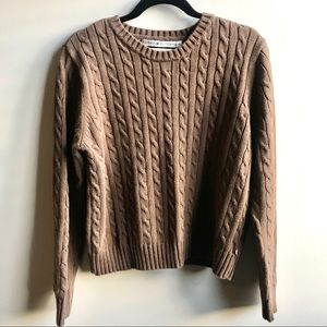 Tommy Hilfiger Sweaters - Tommy Hilfiger light brown cable knit sweater XL